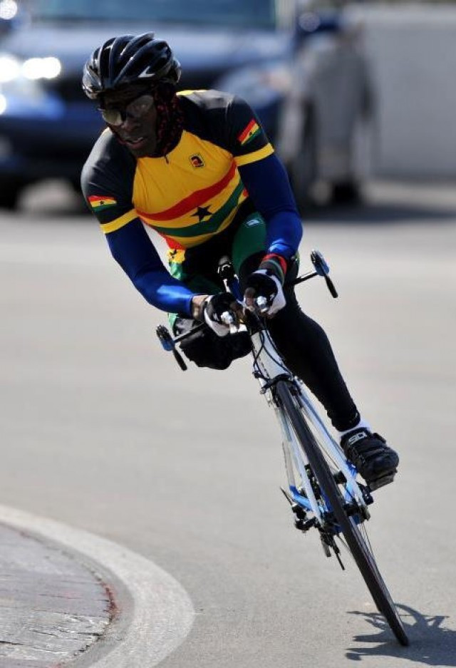 Alem Mumuni became Ghana's first-ever Para-cyclist when he competed at London 2012