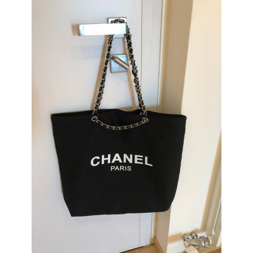 74f30f3eb923eb Chanel Vip Gift Bag Tote Gifts Cotton Black Ref 80659