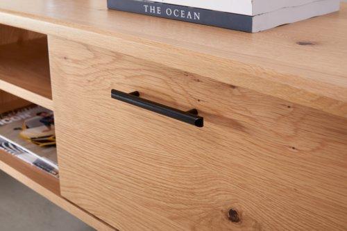 meuble tv new york 2 portes chene noir