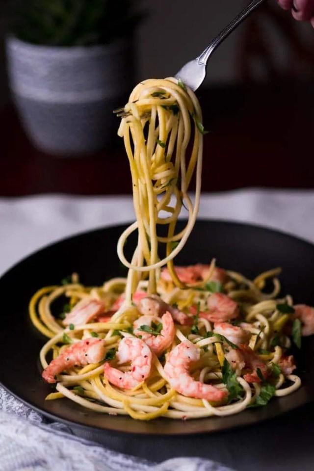 Keto Shrimp Scampi Recipe [Low Carb, Gluten Free]
