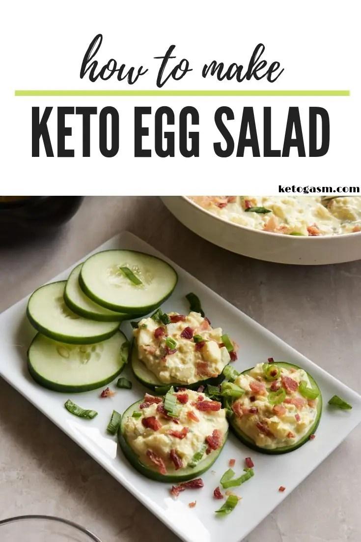 How to Make Keto Egg Salad - Pinterest Pin