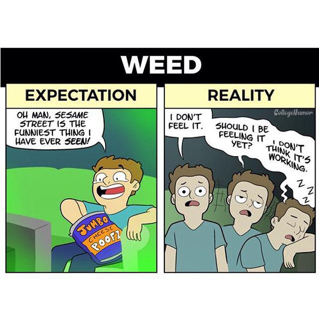 Trying Drugs For The First Time Expectation Vs Reality