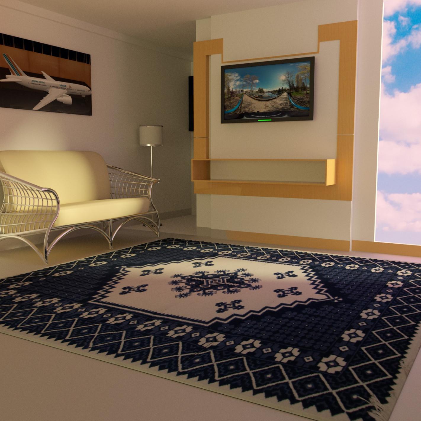 tapis salon bleu de haute qualite 100