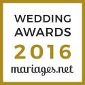 Blackstone Evenements, gagnant Wedding Awards 2016 mariages.net