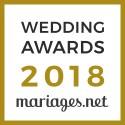 Carine Sarrailh, gagnant Wedding Awards 2018 Mariages.net