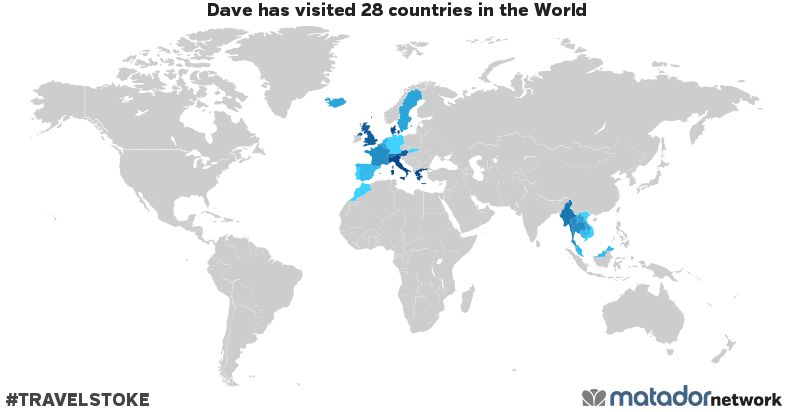 Dave's Travel Map