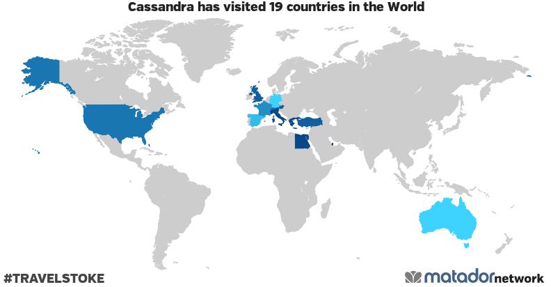 Cassandra's Travel Map