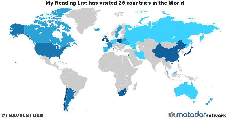 My Reading List's Travel Map