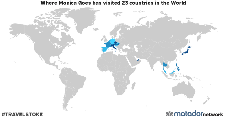 Where Monica Goes's Travel Map