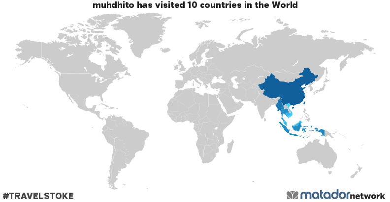 muhdhito's Travel Map