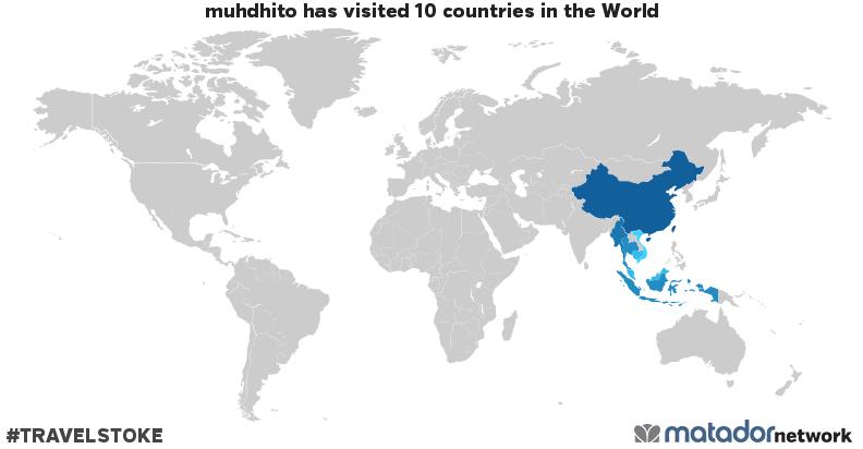 muhdhito's Travel Map