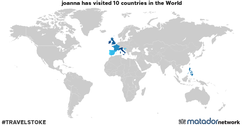joanna's Travel Map