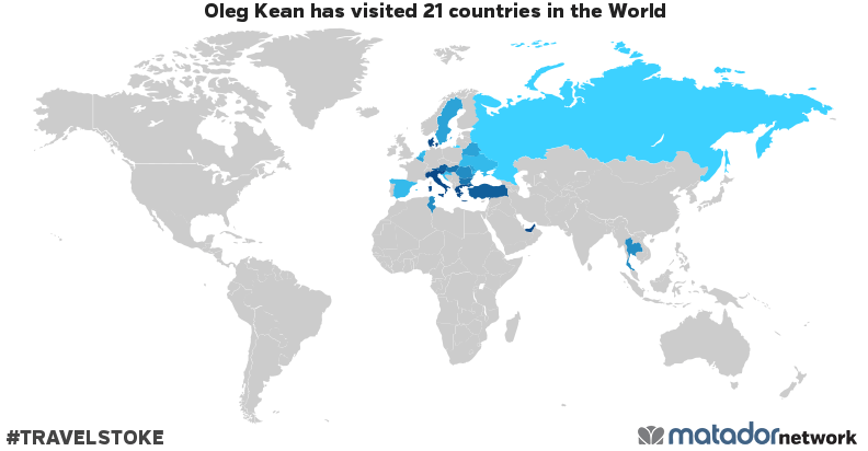 Oleg Kean's Travel Map