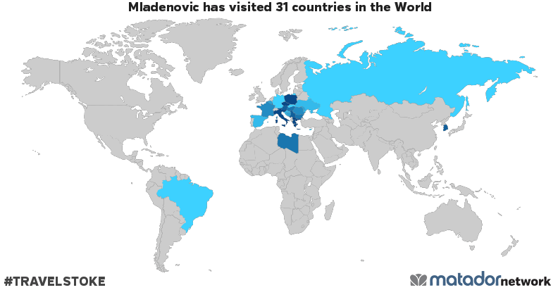 Mladenovic's Travel Map