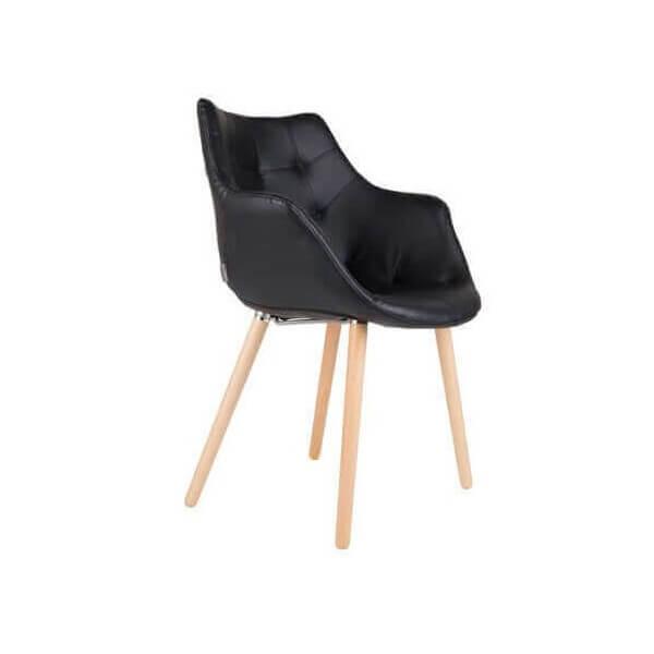 chaise twelve en simili cuir chez zuiver