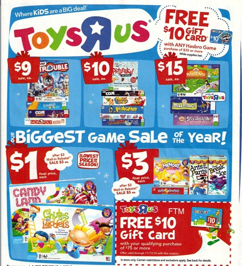 Toys R Us 7 Hasbro Games For 13 185 Each Money