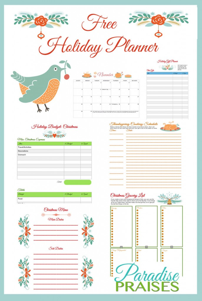 Free Printable Holiday Planner Money Saving Mom