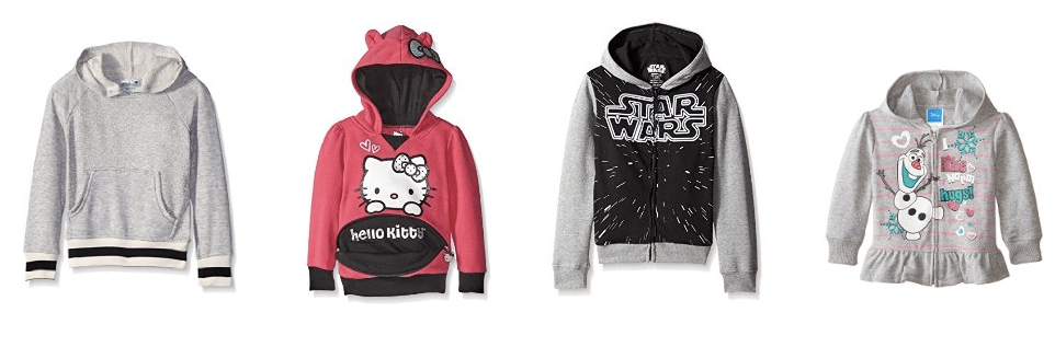 Get over 70% off girls' hoodies and sweatshirts right now on Amazon!