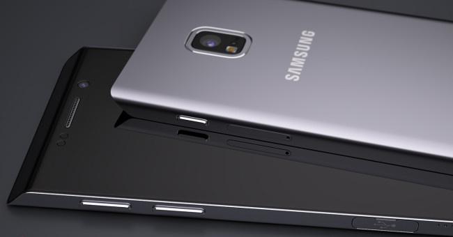 Concepto Galaxy S7 negro y plata