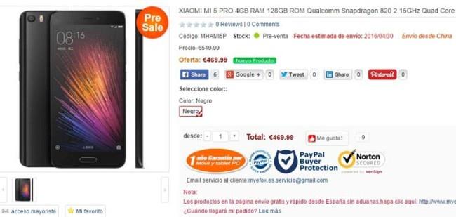 Xiaomi Mi5 con 4 GB de RAM