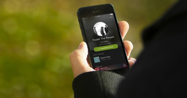 spotify en un iphone
