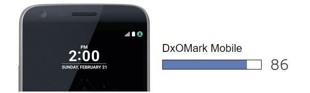 LG G5 en DxOMark