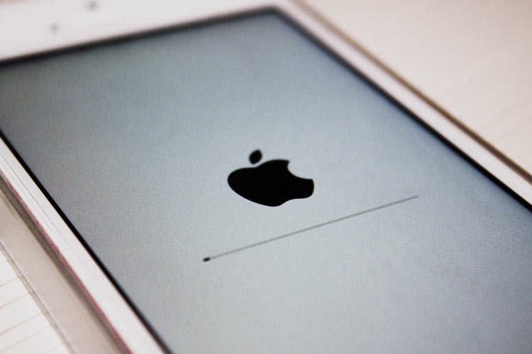 Pantalla de actualización de iOS