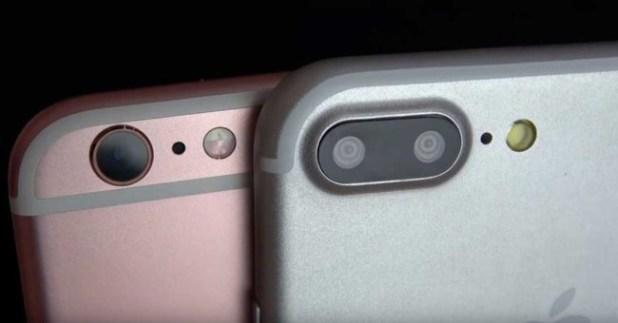 iphone 7 junto a iphone 7 plus