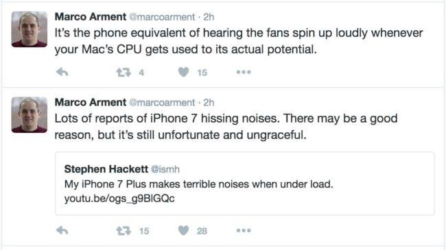 iPhone 7 ruidos molestos