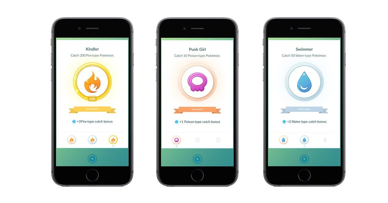 moviles con pantalla de medalla del bonus de captura en pokemon go