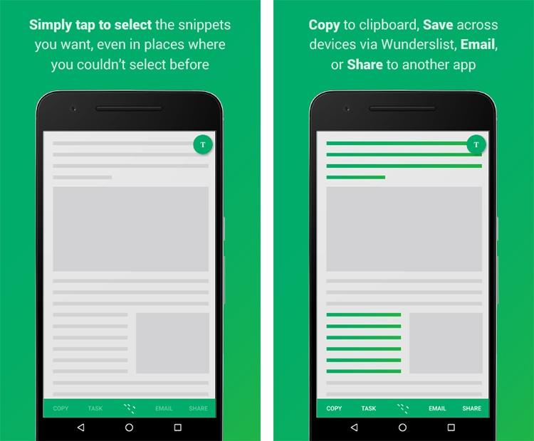 Portapepeles para Android Clip Layer