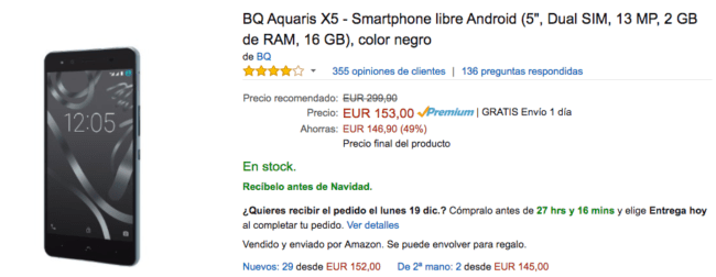 bq aquaris x5 amazon