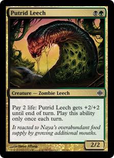 Image result for putrid leech mtggoldfish