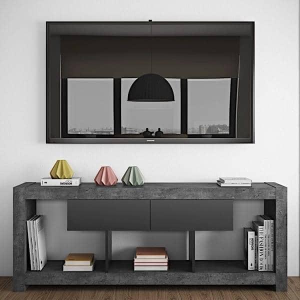nara meuble tv qui trouvera sa place adosse a un mur ou au milieu du
