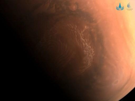 Çin, Mars'tan yeni fotoğraflar paylaştı - 3