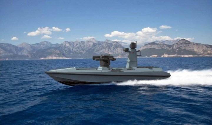 Türkiye'nin ilk silahlı insansız deniz aracı, füze atışlarına hazır - 22