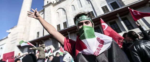 Картинки по запросу İstanbul'da Kudüs protestosu