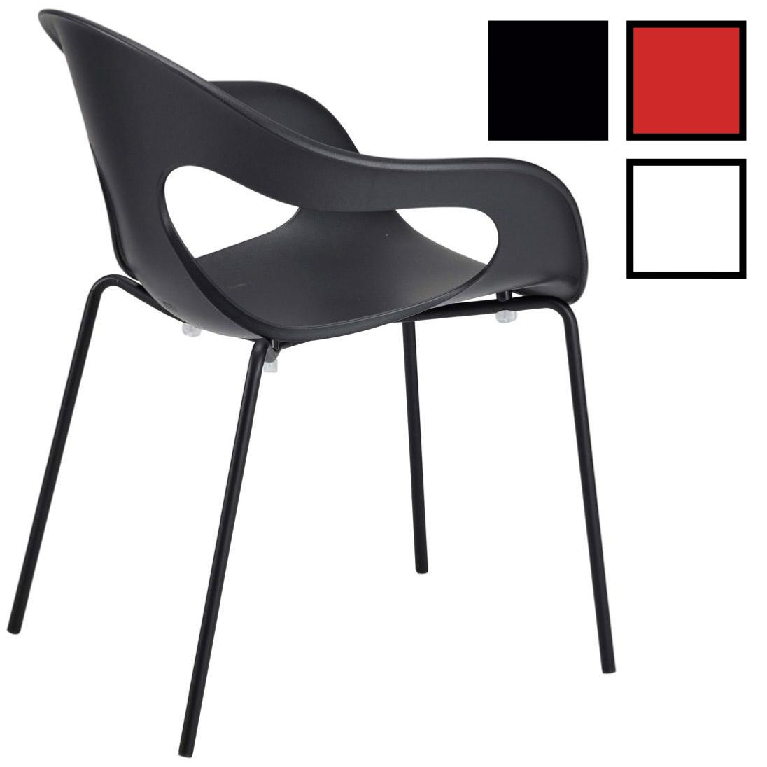 sempy chaise design empilable en polypropylene noire