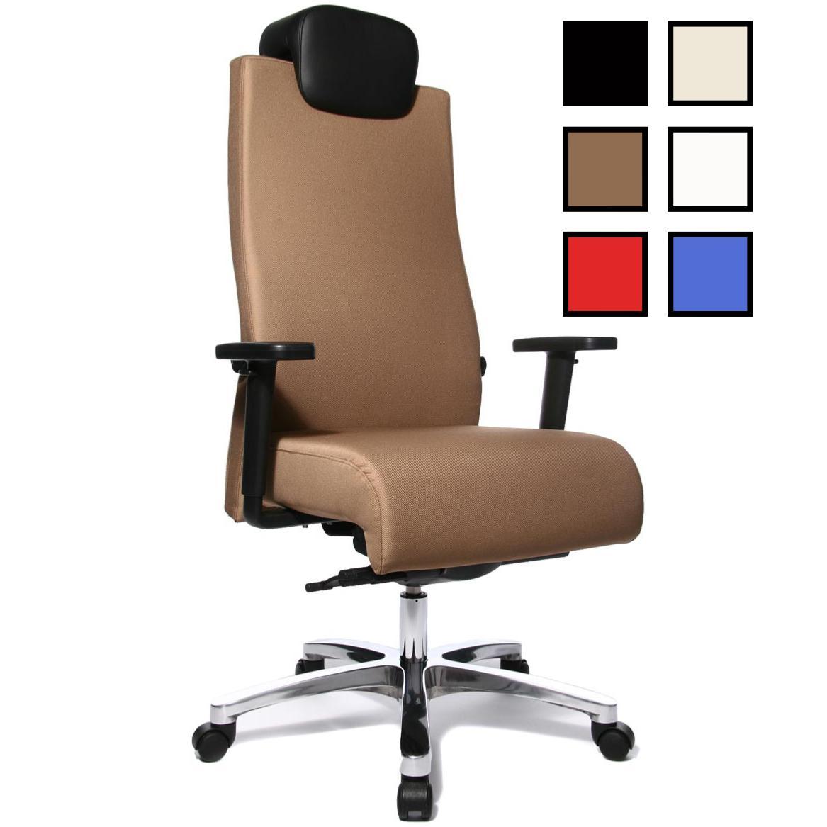 vasto fauteuil de bureau personnes fortes tissu ou cuir