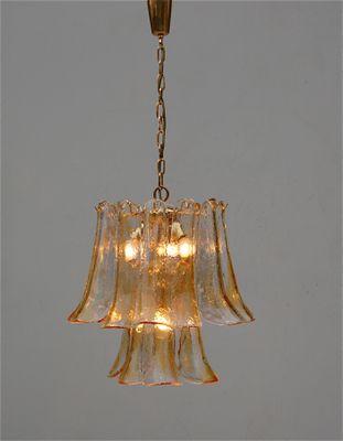 Italian Glass Chandelier By Mazzega Murano 1970 3