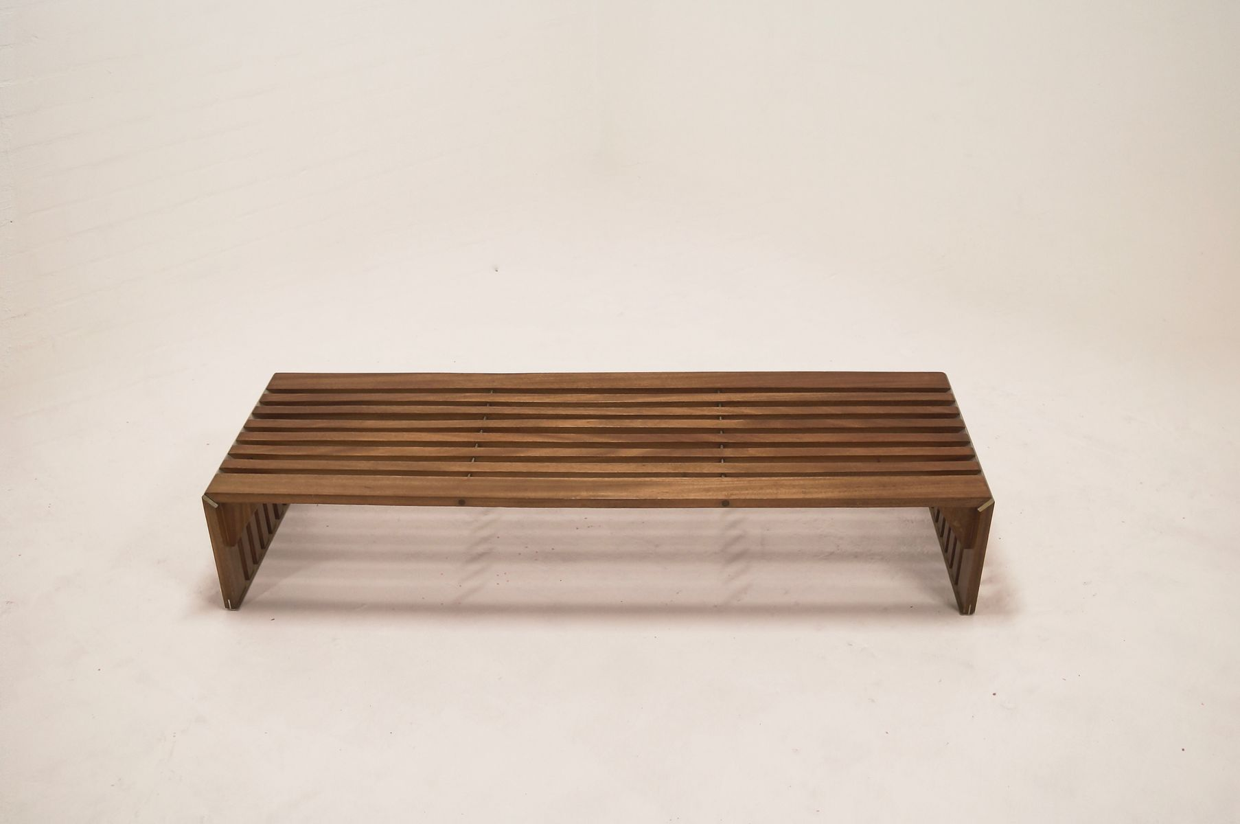 Mid Century Museum Slat Bench By Walter Antonis For T