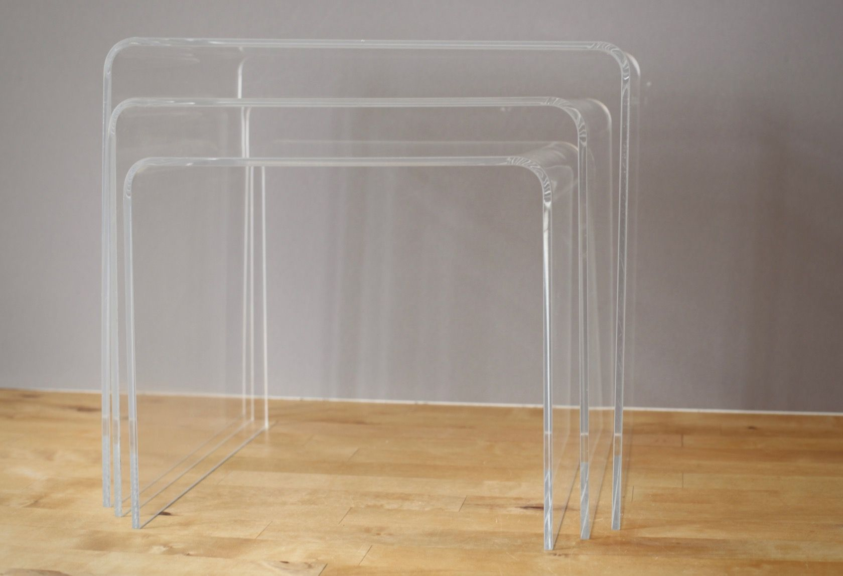 Vintage Acrylic Nesting Tables, 1970s For Sale At Pamono