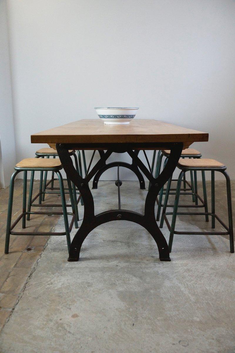 Table De Salle Manger Vintage Industrielle En Vente Sur