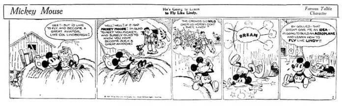 Image result for first Mickey Mouse comic strip