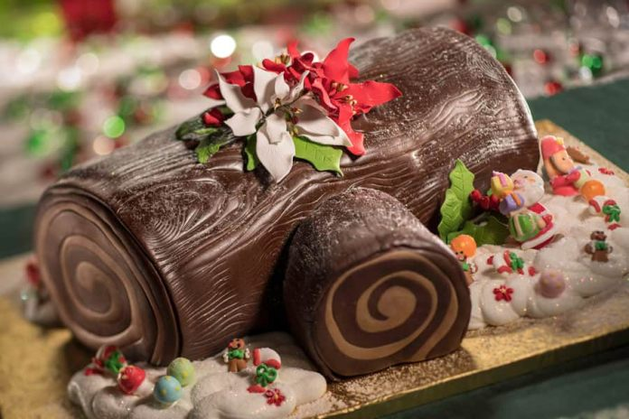 Yule Log from Jingle Bell, Jingle BAM! Dessert Party for Flurry of Fun at Disney's Hollywood Studios