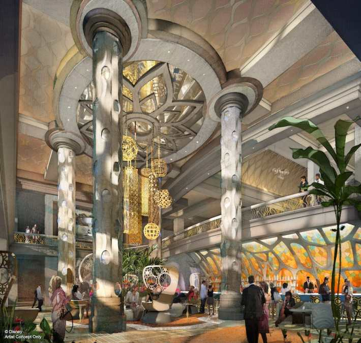 Rendering of the new two-story lobby coming to Disney's Coronado Springs Resort