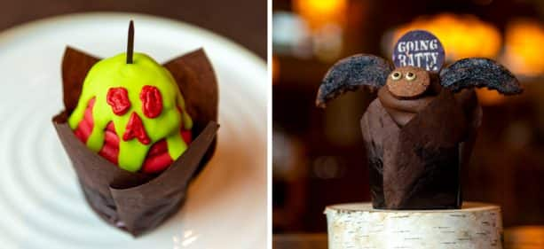 Poison Apple Cupcake and Going Batty Cupcake at Roaring Fork at Disney's Wilderness Lodge