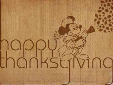 Disney Parks Blog Thanksgiving Wallpaper featuring Mickey Mouse
