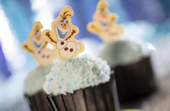Olaf Cupcake for Flurry of Fun at Disney's Hollywood Studios