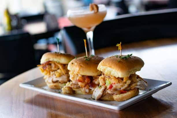 Gobble Gobble Sliders and Holiday Cocktail at Splitsville Dining Room at Disney Springs